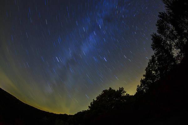 Genesee Photograph - Letchworth Star Trails by Rick Berk