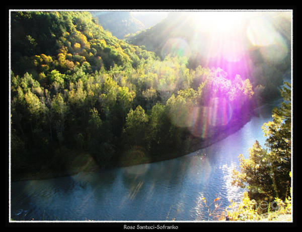 Photograph - Letchworth State Park Genesee River In Autumn by Rose Santuci-Sofranko