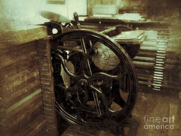 Inking Wall Art - Photograph - Letterpress In Workroom by Ruby Hummersmith