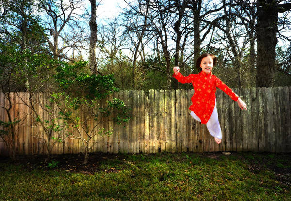 Soar Photograph - Levitation Portrait Of Young Girl by Nikki Marie Smith