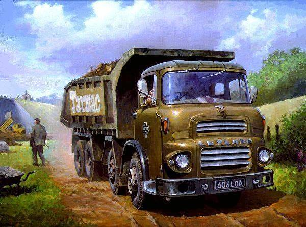 Octopus Painting - Leyland Octopus Tarmac by Mike Jeffries