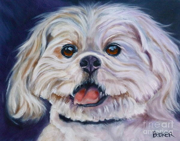 Wall Art - Painting - Lhasa Apso by Susan A Becker