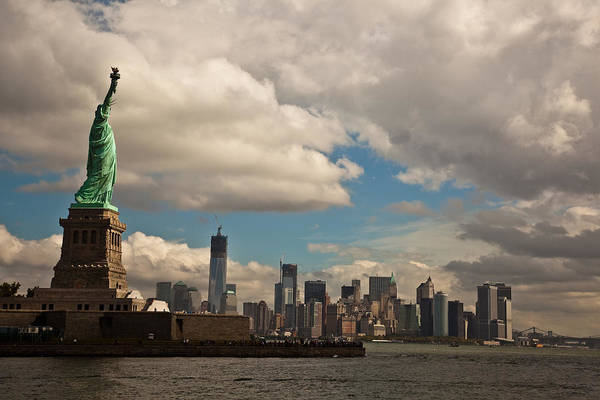Wall Art - Photograph - Liberty And The Skyline by Patrick  Flynn