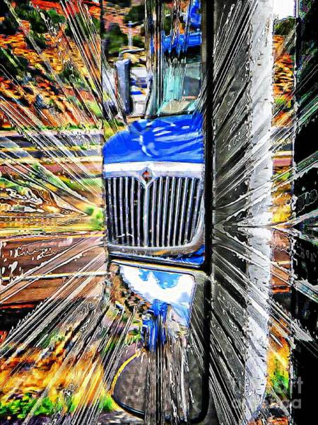 Freightliner Wall Art - Photograph - Life Is A Highway by Michelle Frizzell-Thompson