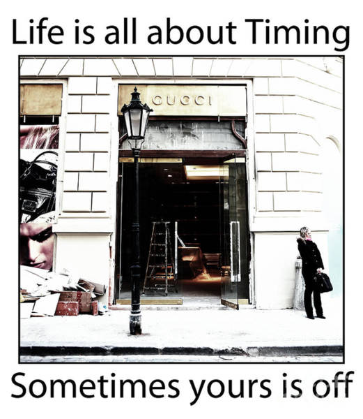Photograph - Life Is About Timing by John Rizzuto