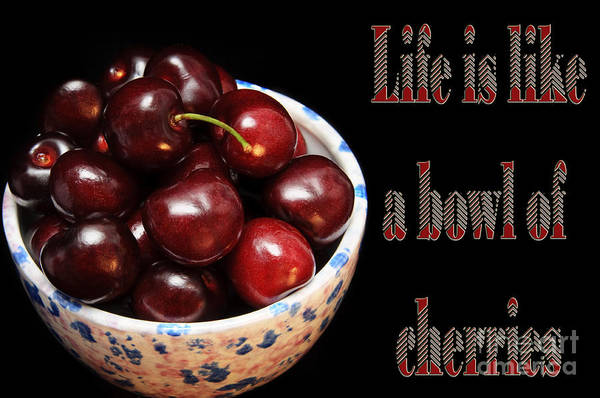 Photograph - Life Is Like A Bowl Of Cherries 2  by Andee Design