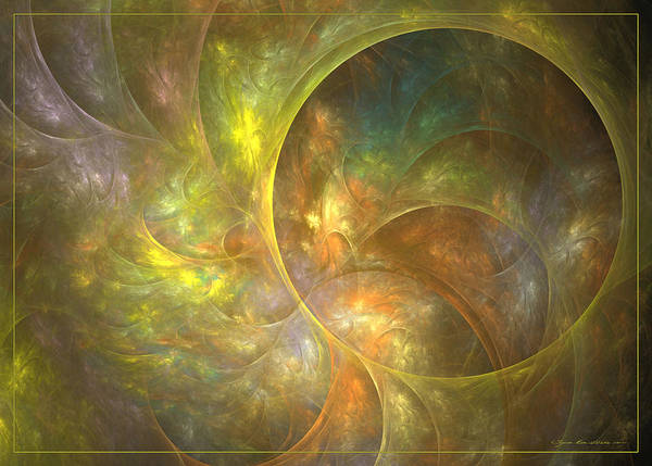 Digital Art - Life Of Leaf - Abstract Art by Sipo Liimatainen