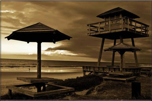 Ormond Photograph - World War II Coastal Watchtower by DigiArt Diaries by Vicky B Fuller