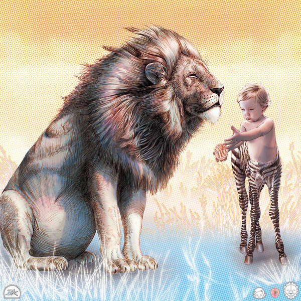 Wall Art - Drawing - Liger  The Gift by David Starr