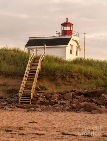 Stairs Wall Art - Photograph - Lighhouse Cousins Shore Pei by Edward Fielding