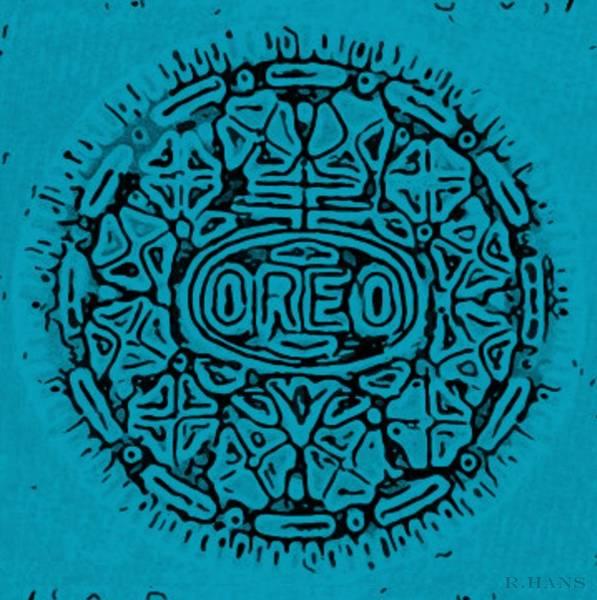 Nabisco Photograph - Light Blue Oreo by Rob Hans
