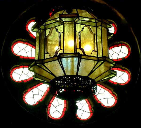 Photograph - Light Fixture And Window by Jeff Lowe