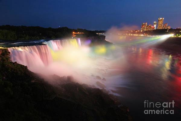 Niagara Falls State Park Photograph - Light From The Canadians by Adam Jewell