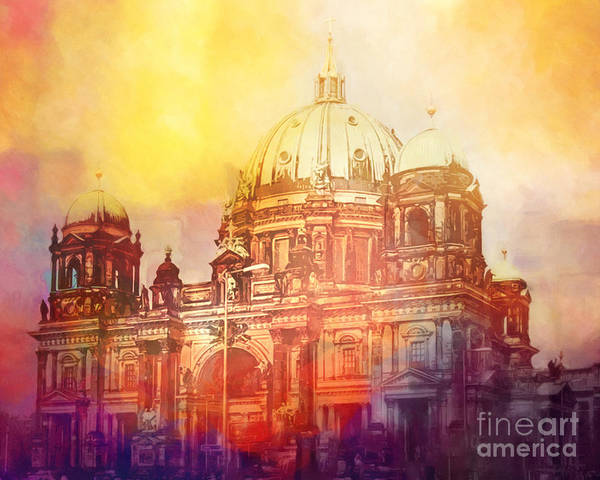 Dome Painting - Light Over Berlin by Lutz Baar
