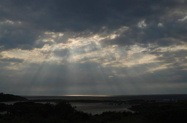 Cabot Trail Photograph - Light Rays Over Cape Breton Island by Rebecca Christenson