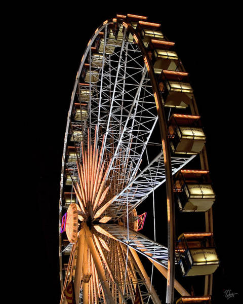 Photograph - Lighted Wheel by Endre Balogh