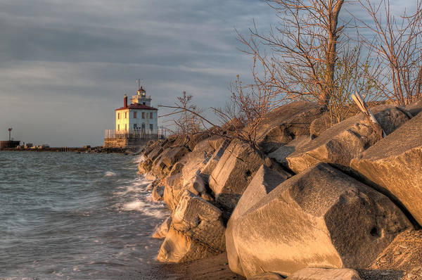 Photograph - Lighthouse And Breakwall In Evening Light by At Lands End Photography
