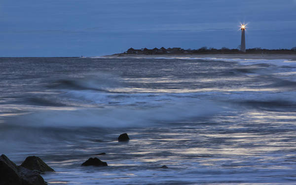 Photograph - Lighthouse At Twilight by Tom Singleton