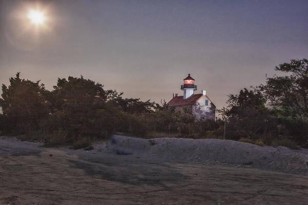 Photograph - Lighthouse Full Moon II by Tom Singleton