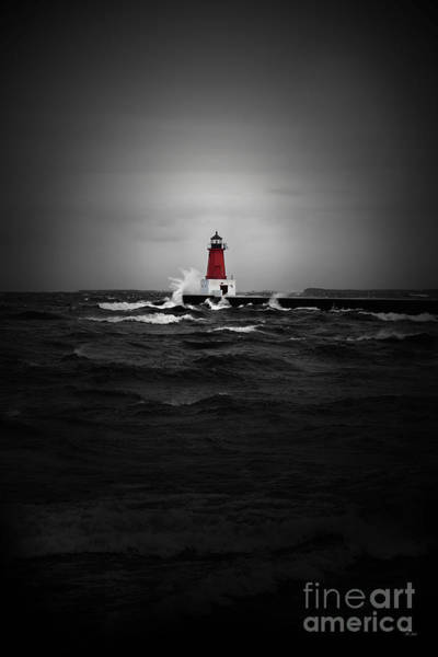 Lighthouse Glow Art Print