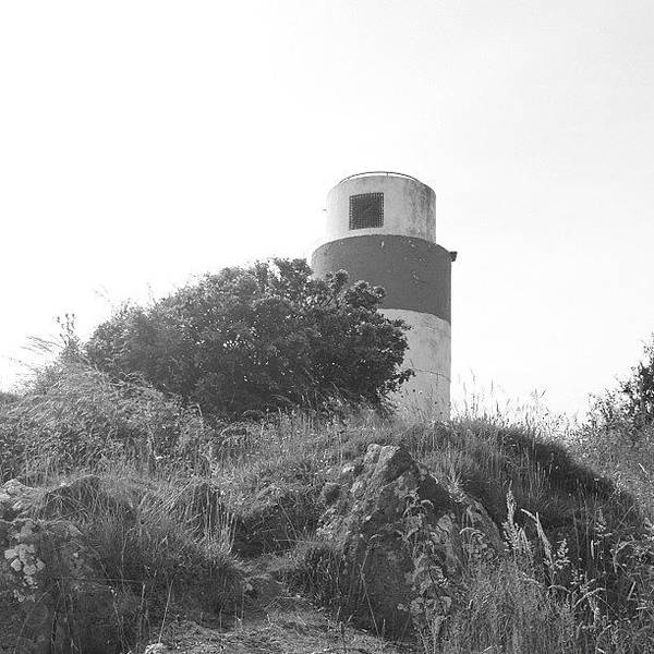 Grace Wall Art - Photograph - #lighthouse #hill #green #bushes by Grace Shine