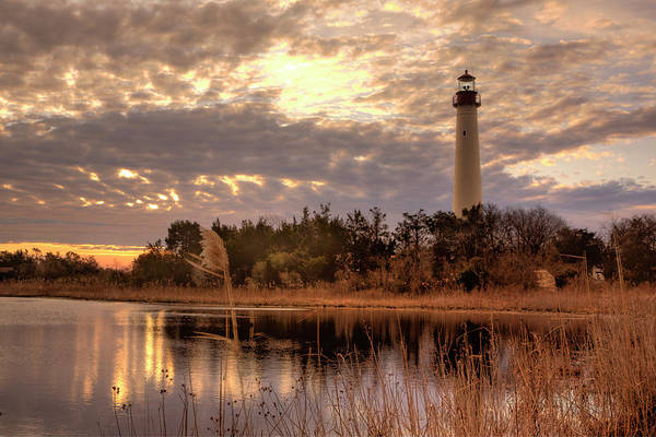 Photograph - Lighthouse Winter Sunrise by Tom Singleton