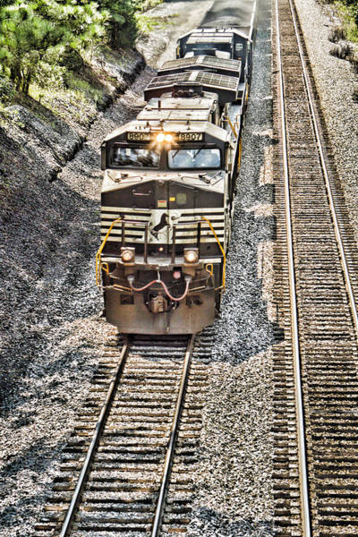 Norfolk Southern Wall Art - Photograph - Lights On by Tim Wilson