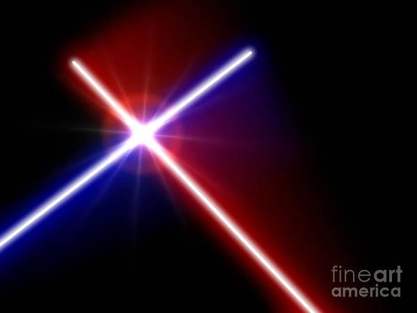Painting - Lightsaber Duel by Pet Serrano
