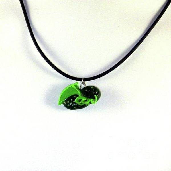 Jewelry - Lil Cthulhu H.p. Lovecraft Alien Cartoon Necklace by Pet Serrano