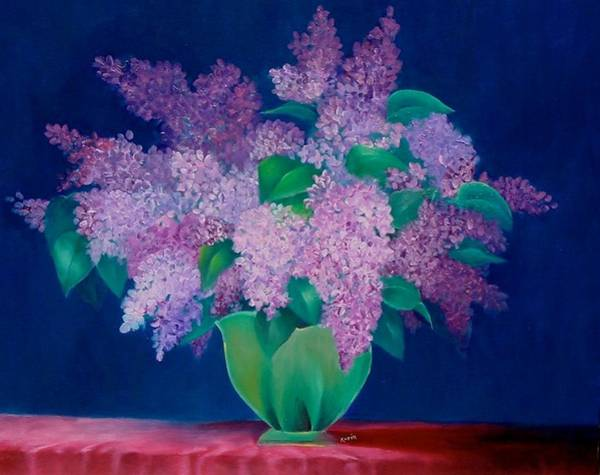 Painting - Lilac by Karin Eisermann