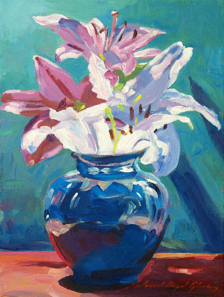 Painting - Lilies In Blue by David Lloyd Glover