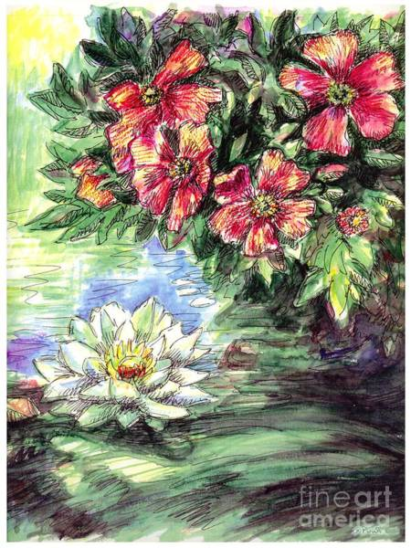 Painting - Lily-lotus Flower Paintings by Gordon Punt