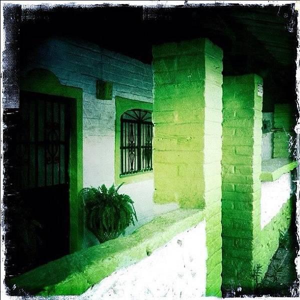 Lime Green & White House (puerto Art Print