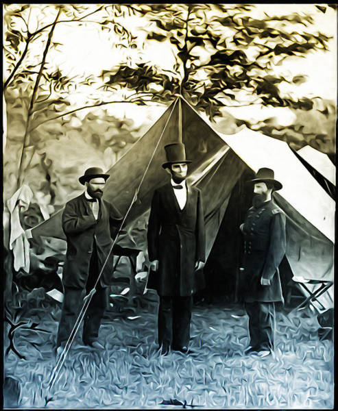Photograph - Lincoln - Pinkerton -  Mcclernand by Bill Cannon