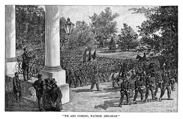 Collin Photograph - Lincoln Reviewing Troops by Granger