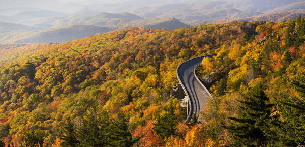 Photograph - Linn Cove Viaduct Panorama In Autumn by Pierre Leclerc Photography