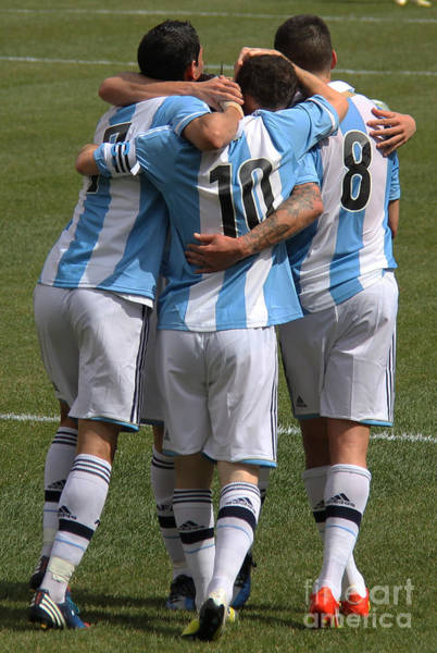 2010 Fifa World Cup Wall Art - Photograph - Lionel Messi Teamwork by Lee Dos Santos