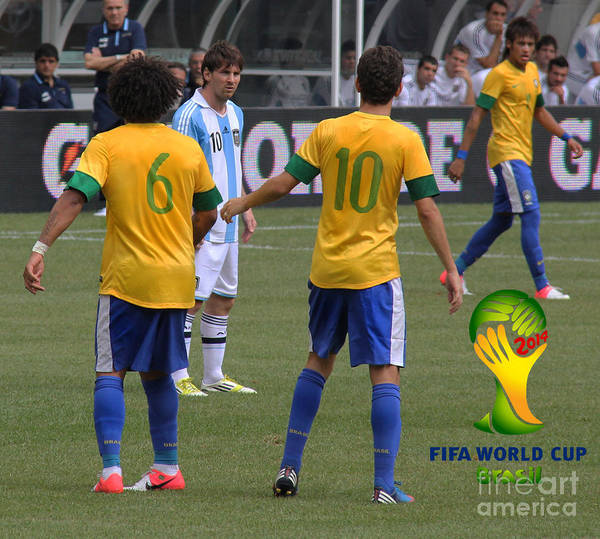 2010 Fifa World Cup Wall Art - Photograph - Lionel Messi You Cant Stop Me by Lee Dos Santos