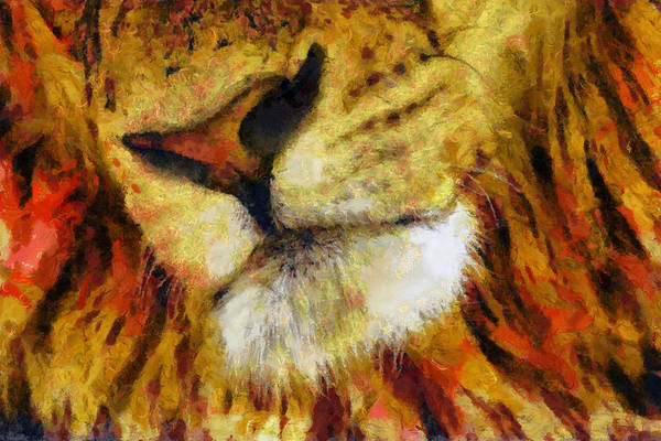 Wall Art - Painting - Lion's Mouth by Christopher Lane