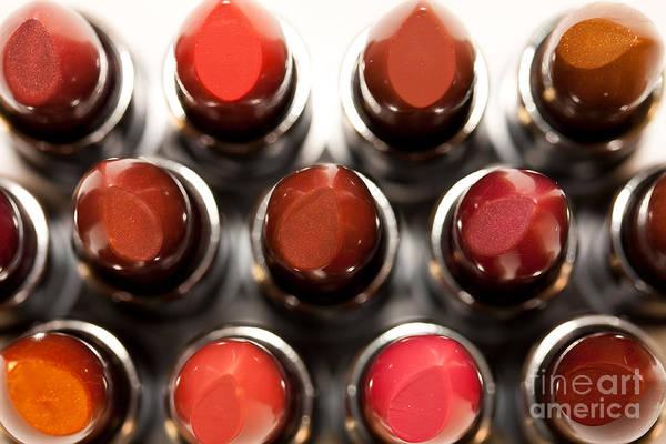 Photograph - Lipsticks From Above by Rachel Duchesne