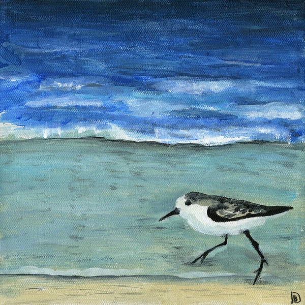 Painting - Little Bird At The Beach by Debbie Brown