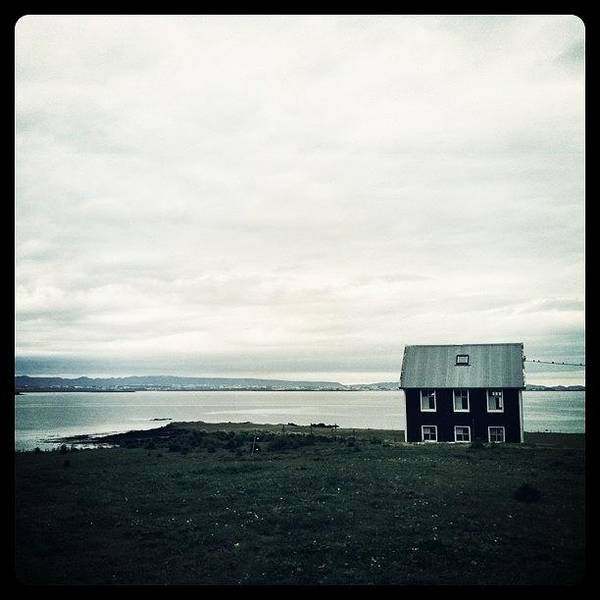 Amazing Photograph - Little Black House By The Sea by Luke Kingma