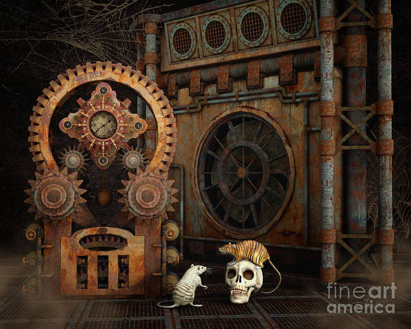 Digital Art - Little Chat by Jutta Maria Pusl
