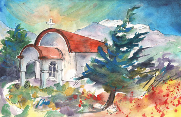 Painting - Little Church By Agia Galini by Miki De Goodaboom