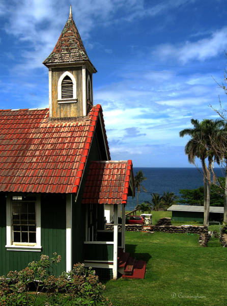 Photograph - Little Green Church In Hawaii by Dorothy Cunningham