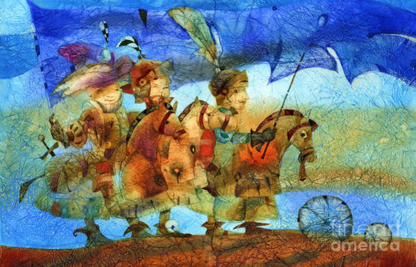 Wall Art - Mixed Media - Little Knights by Svetlana and Sabir Gadghievs