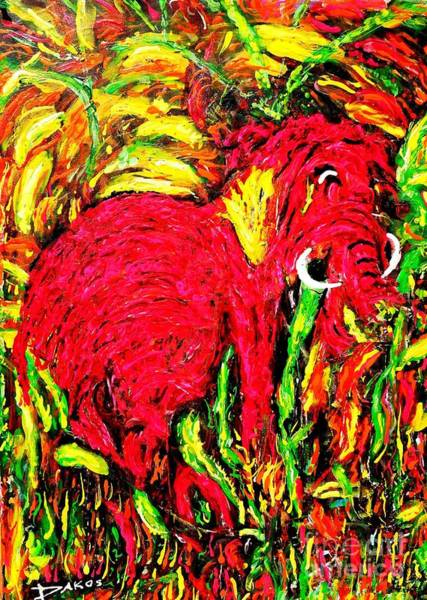 Sax Painting - Little Lost Mammoth by Darlyne Sax