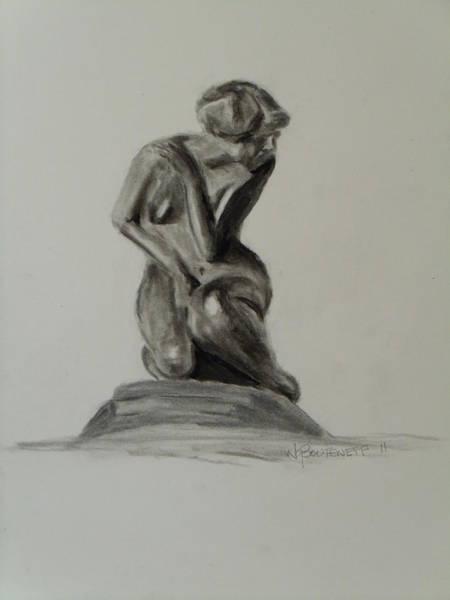 Drawing - Little Mermaid by Nicolas Bouteneff