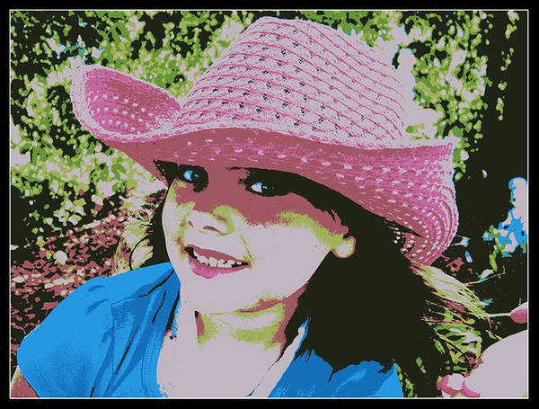 Posterize Photograph - Little Pink Cowgirl by Michelle Frizzell-Thompson