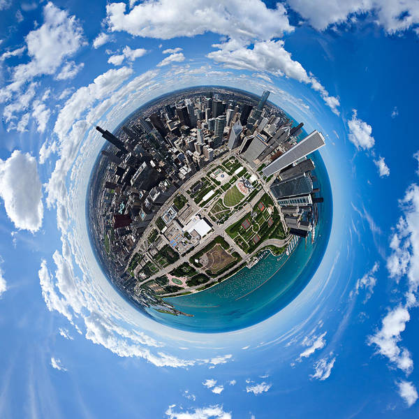 Photograph - Little Planet Chicago by Robert Harshman